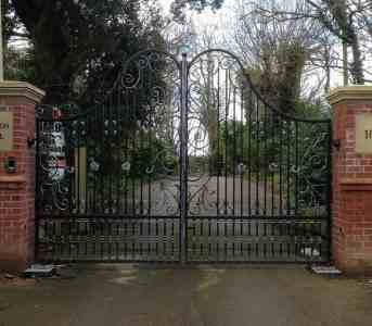 Steel Driveway gates Staining