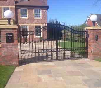 Steel driveway gates Lytham St Annes